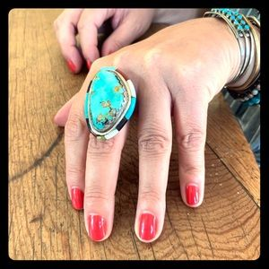 Jewelry - Zuni style turquoise ring
